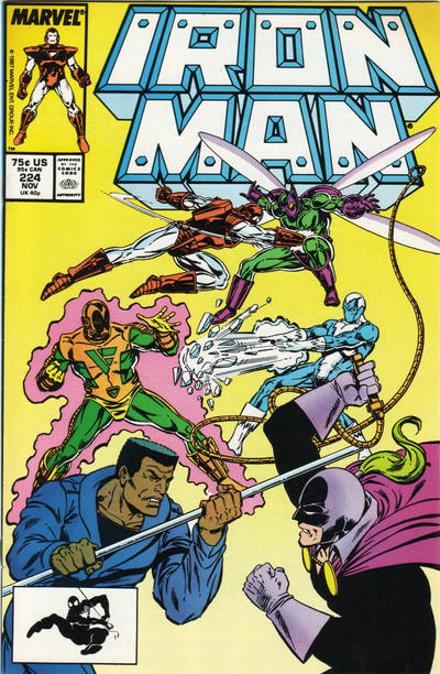 Cover for Iron Man (Marvel, 1968 series) #224 [Direct Edition]