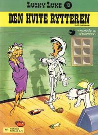Cover Thumbnail for Lucky Luke (Nordisk Forlag, 1973 series) #13 - Den hvite rytteren