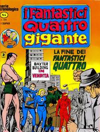 Cover Thumbnail for I Fantastici Quattro Gigante (Editoriale Corno, 1978 series) #4