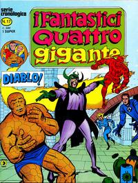 Cover Thumbnail for I Fantastici Quattro Gigante (Editoriale Corno, 1978 series) #17
