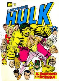 Cover Thumbnail for L'Incredibile Hulk (Editoriale Corno, 1980 series) #19