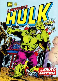 Cover Thumbnail for L'Incredibile Hulk (Editoriale Corno, 1980 series) #25