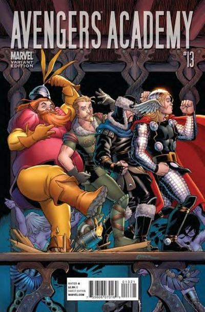 Cover for Avengers Academy (Marvel, 2010 series) #13 [Thor goes to Hollywood Variant]