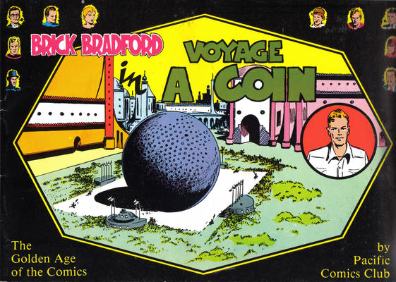 Cover for Brick Bradford:  Voyage in a Coin (Pacific Comics Club, 1976 series)