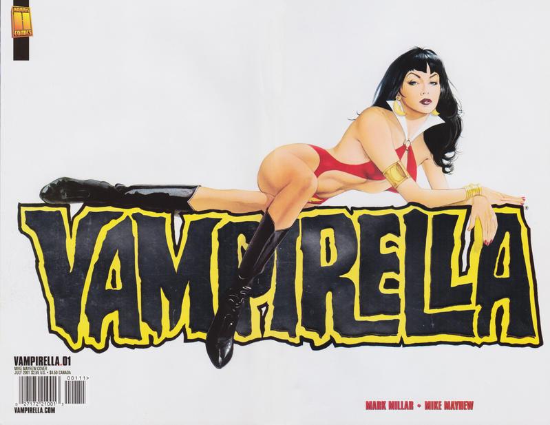 Cover for Vampirella (Harris Comics, 2001 series) #1 [Mike Mayhew Cover]