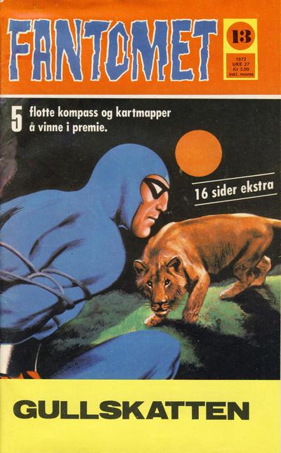 Cover for Fantomet (Romanforlaget, 1966 series) #13/1972