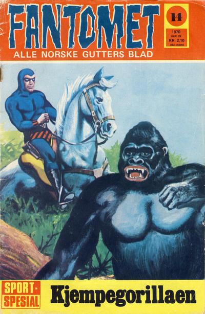 Cover for Fantomet (Romanforlaget, 1966 series) #14/1970