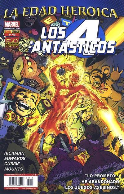 Cover for Los 4 Fantásticos (Panini España, 2008 series) #40