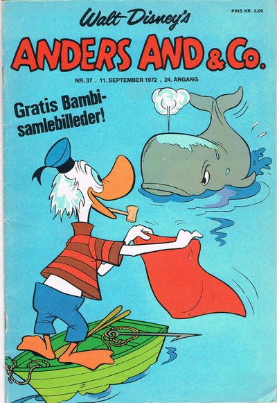 Cover for Anders And & Co. (Egmont, 1949 series) #37/1972