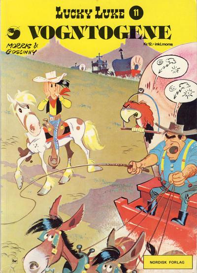 Cover for Lucky Luke (Nordisk Forlag, 1973 series) #11 - Vogntogene