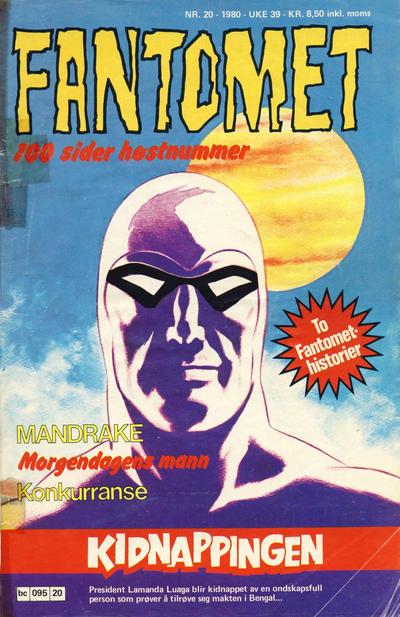 Cover for Fantomet (Semic, 1976 series) #20/1980