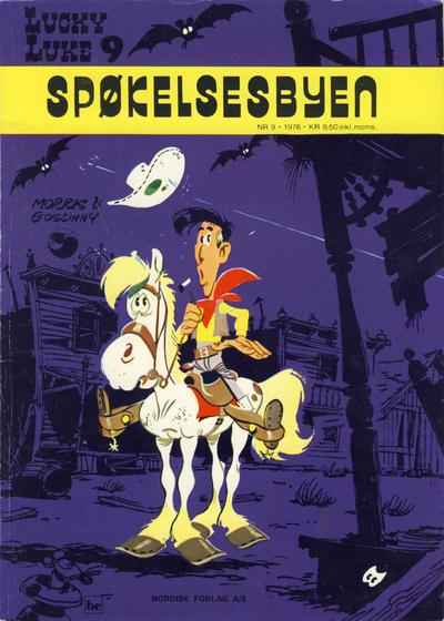 Cover for Lucky Luke (Nordisk Forlag, 1973 series) #9 - Spøkelsesbyen