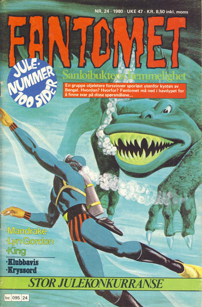 Cover for Fantomet (Semic, 1976 series) #24/1980