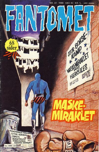 Cover for Fantomet (Semic, 1976 series) #22/1980