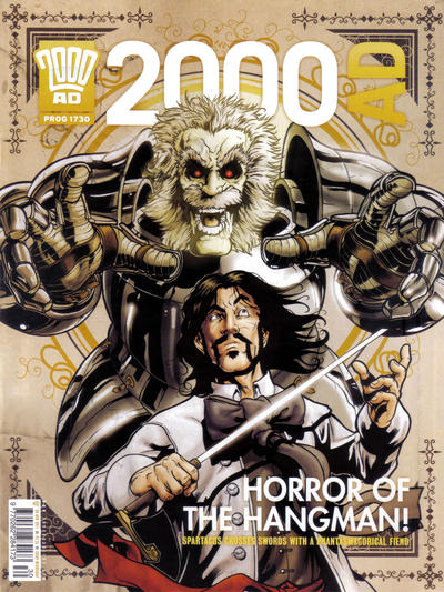 Cover for 2000 AD (Rebellion, 2001 series) #1730