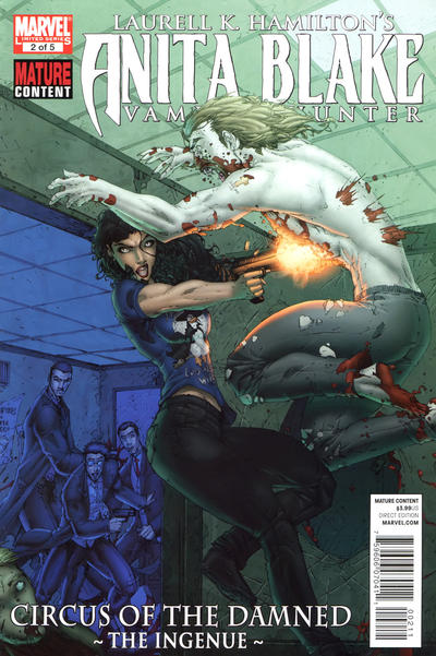Cover for Anita Blake: Circus of the Damned - The Ingenue (Marvel, 2011 series) #2