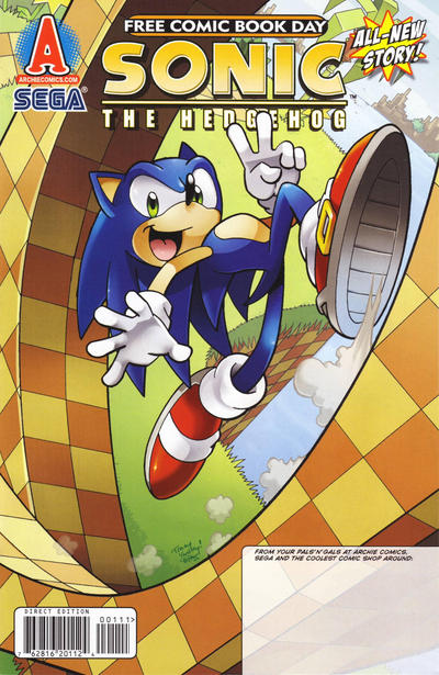 Cover for Sonic: The Rematch, Free Comic Book Day Edition (Archie, 2011 series) #1