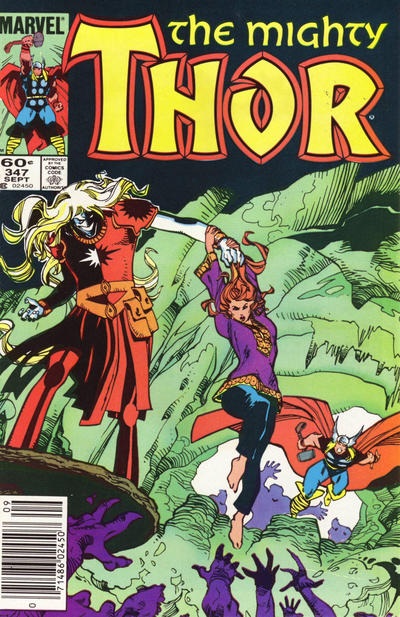 Cover for Thor (Marvel, 1966 series) #347 [Direct Edition]
