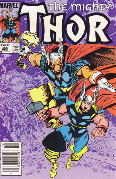 Cover for Thor (Marvel, 1966 series) #350 [Direct Edition]