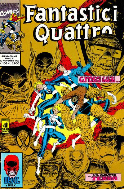 Cover for Fantastici Quattro (Edizioni Star Comics, 1988 series) #105