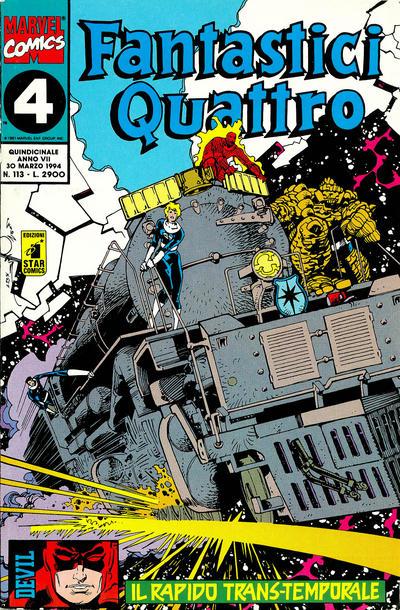 Cover for Fantastici Quattro (Edizioni Star Comics, 1988 series) #113