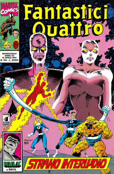 Cover for Fantastici Quattro (Edizioni Star Comics, 1988 series) #114