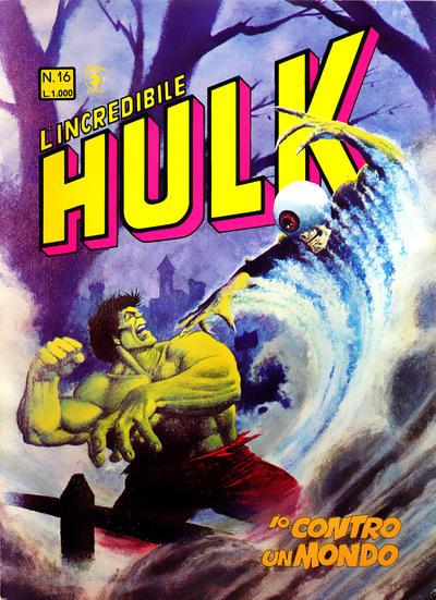 Cover for L'Incredibile Hulk (Editoriale Corno, 1980 series) #16