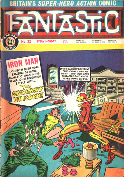 Cover for Fantastic! (IPC, 1967 series) #32