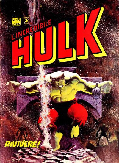 Cover for L'Incredibile Hulk (Editoriale Corno, 1980 series) #15