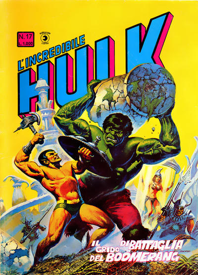 Cover for L'Incredibile Hulk (Editoriale Corno, 1980 series) #17