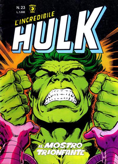 Cover for L'Incredibile Hulk (Editoriale Corno, 1980 series) #23