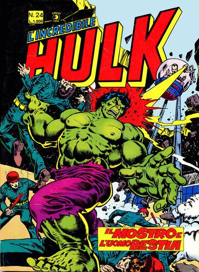 Cover for L'Incredibile Hulk (Editoriale Corno, 1980 series) #24
