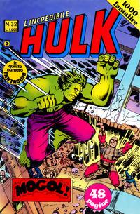 Cover Thumbnail for L'Incredibile Hulk (Editoriale Corno, 1980 series) #32