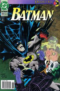 Cover Thumbnail for Batman (DC, 1940 series) #496 [Newsstand]