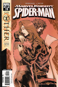 Cover for Marvel Knights Spider-Man (Marvel, 2004 series) #19 [Variant Edition - Black Costume - Second Printing]