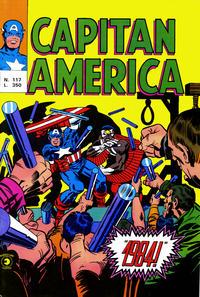 Cover Thumbnail for Capitan America (Editoriale Corno, 1973 series) #117