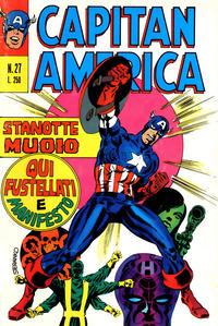 Cover Thumbnail for Capitan America (Editoriale Corno, 1973 series) #27