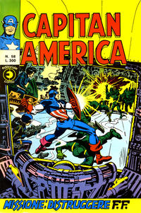 Cover Thumbnail for Capitan America (Editoriale Corno, 1973 series) #58