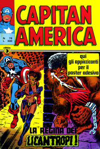 Cover Thumbnail for Capitan America (Editoriale Corno, 1973 series) #76