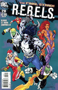 Cover Thumbnail for R.E.B.E.L.S. (DC, 2009 series) #28