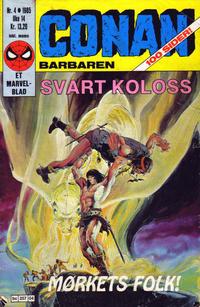 Cover Thumbnail for Conan (Semic, 1984 series) #4/1985