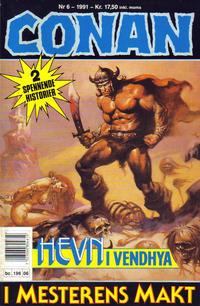 Cover Thumbnail for Conan (Bladkompaniet / Schibsted, 1990 series) #6/1991