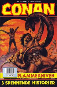 Cover Thumbnail for Conan (Bladkompaniet / Schibsted, 1990 series) #8/1991