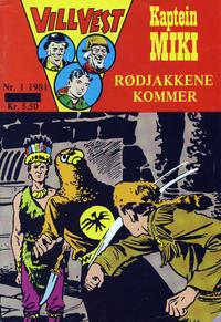 Cover Thumbnail for Vill Vest (Serieforlaget / Se-Bladene / Stabenfeldt, 1953 series) #1/1981