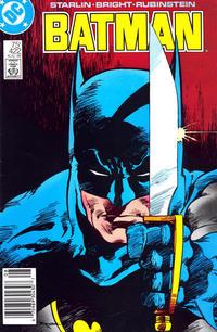 Cover Thumbnail for Batman (DC, 1940 series) #422 [Newsstand]