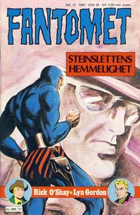 Cover Thumbnail for Fantomet (Semic, 1976 series) #17/1981