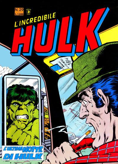 Cover for L'Incredibile Hulk (Editoriale Corno, 1980 series) #29