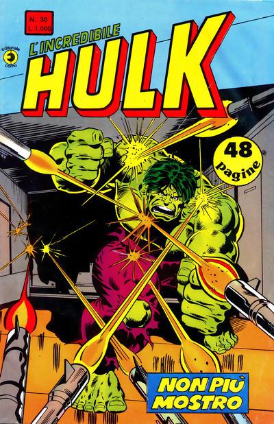 Cover for L'Incredibile Hulk (Editoriale Corno, 1980 series) #30