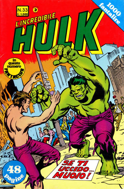 Cover for L'Incredibile Hulk (Editoriale Corno, 1980 series) #33