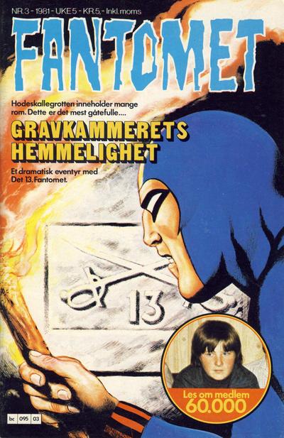Cover for Fantomet (Semic, 1976 series) #3/1981